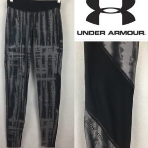 UNDER ARMOUR BLACK AND GRAY LEGGINGS